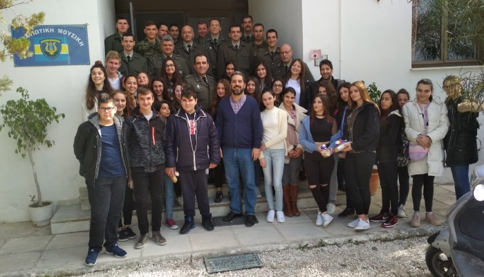 Εκπαιδευτική επίσκεψη μαθητών στη στρατιωτική μπάντα 5ης Μεραρχίας