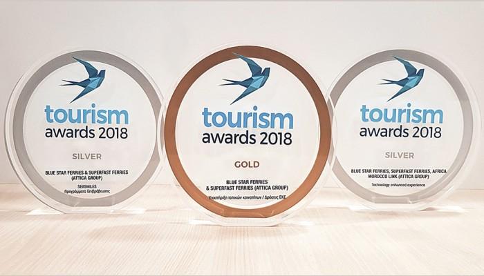 Τριπλή διάκριση για την Attica Group στα Tourism AWARDS 2018