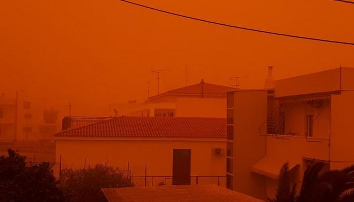 Τοπίο στην... αφρικανική σκόνη - Χαρακτηριστικές φωτογραφίες από την Κρήτη
