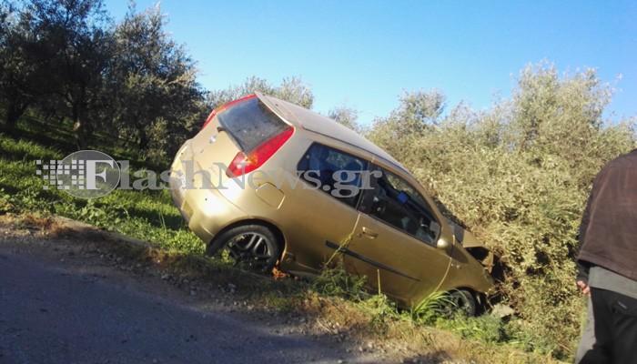 Αυτοκίνητο έπεσε πάνω σε ελιά στα Χανιά - Ένας τραυματίας (φωτο)