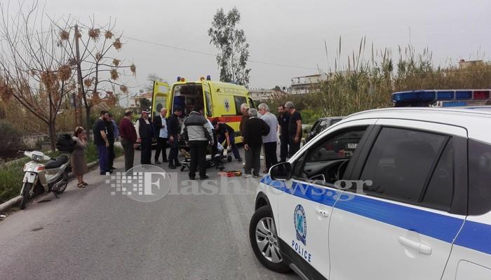 Τροχαίο ατύχημα μετά από παθολογικό επεισόδιο στη Σούδα (φωτο)