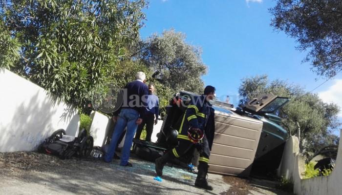 Χανιά: Σοβαρό τροχαίο με εγκλωβισμό - Στο όχημα επέβαινε ένα μωρό φωτο)