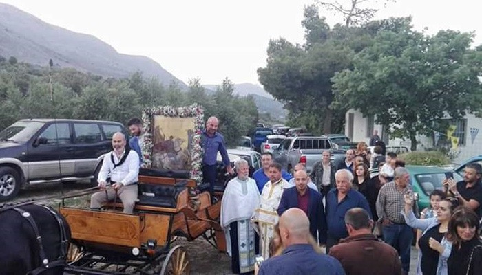 Οι οικοδόμοι γιόρτασαν τον Άγιο προστάτη τους στον Κρουσώνα
