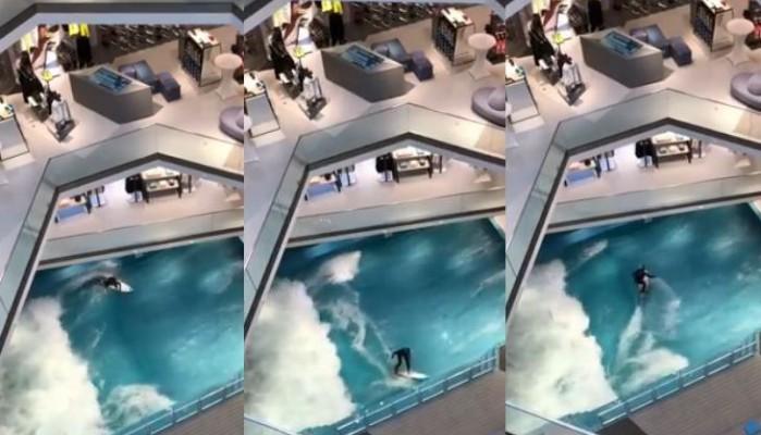 Ξεπρόβαλε… θάλασσα από ένα εμπορικό κατάστημα της Γερμανίας