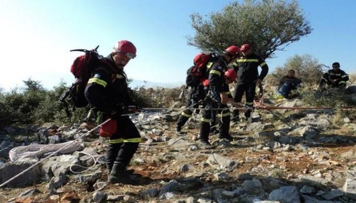 Δύσκολη επιχείρηση απεγκλωβισμού ορειβάτη στην Εύβοια