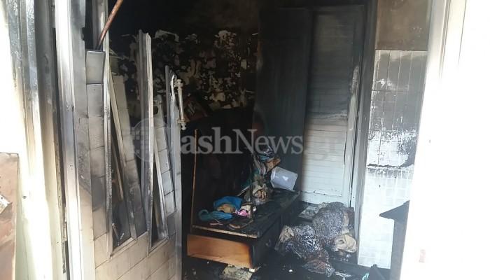 Φωτιά σε σπίτι στο Πασακάκι - Σωτήρια επέμβαση πυροσβεστών (φωτο)
