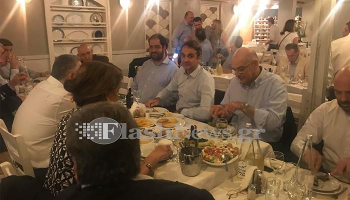 Σε φίλους και βουλευτές έκανε τραπέζι ο Κυρ. Μητσοτάκης στα Χανιά (φωτο)