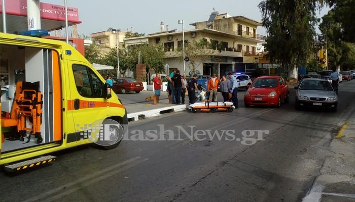 Τροχαίο με έναν τραυματία στην Λεωφόρο Καραμανλή στα Χανιά (φωτο)
