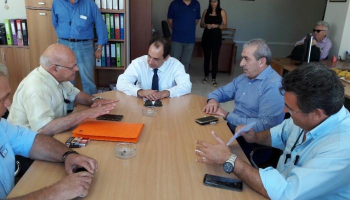 Συνεχίζει τις συναντήσεις του στην Κρήτη ο κ. Σπίρτζης