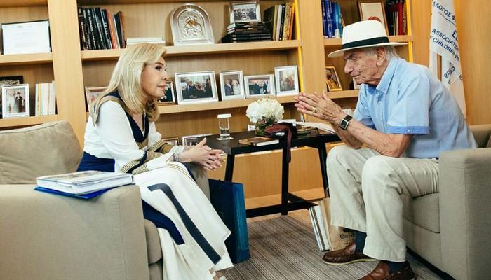 Η διαφορετική συνέντευξη της Μαριάννας Βαρδινογιάννη στον Βασίλη Βασιλικό