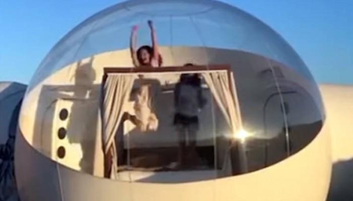 Ένα ξενοδοχείο-φούσκα με θέα τ' αστέρια