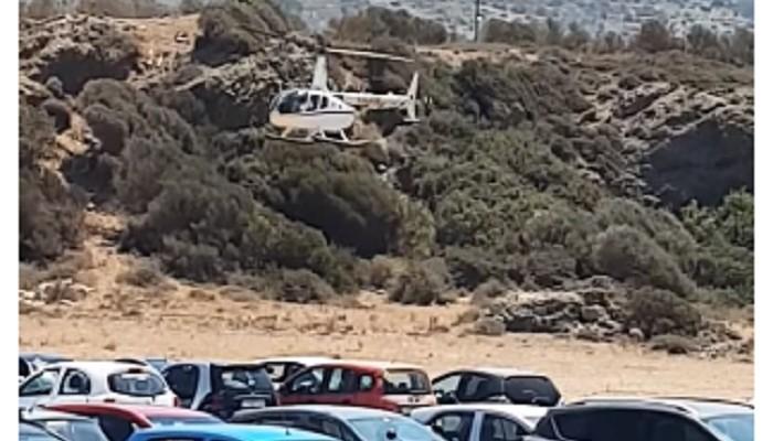 Ελικόπτερο με Ελβετό τραπεζίτη προσγειώθηκε στα Φαλάσαρνα (βίντεο)