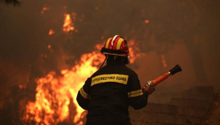 Μεγάλη φωτιά μαίνεται στο Λασίθι