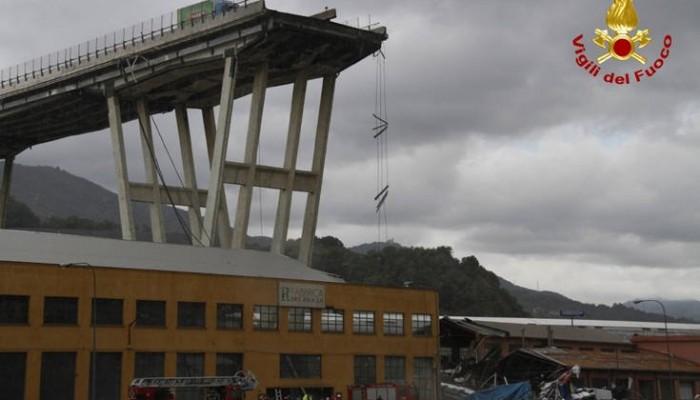 Ενός λεπτού σιγή στη Γένοβα στη μνήμη των θυμάτων της γέφυρας