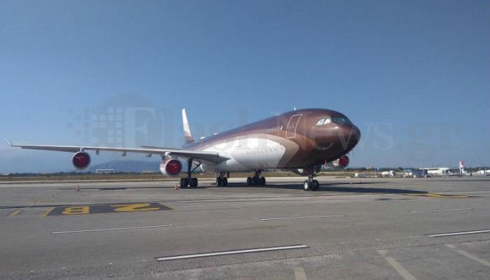 Το υπεροπολυτελές αεροπλάνο του Αλισέρ Ουσμάνοφ στα Χανιά (φωτο)
