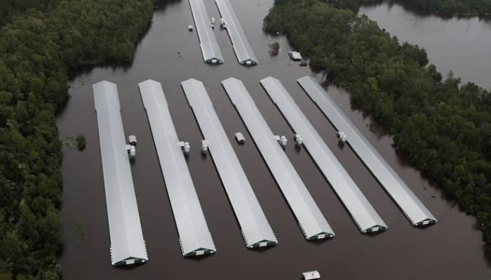 Αποκλεισμένη από παντού πόλη στη Βόρεια Καρολίνα λόγω των πλημμυρών