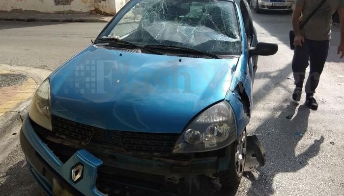 Αυτοκίνητο συγκρούστηκε με μηχανάκι στα Χανιά (φωτο)