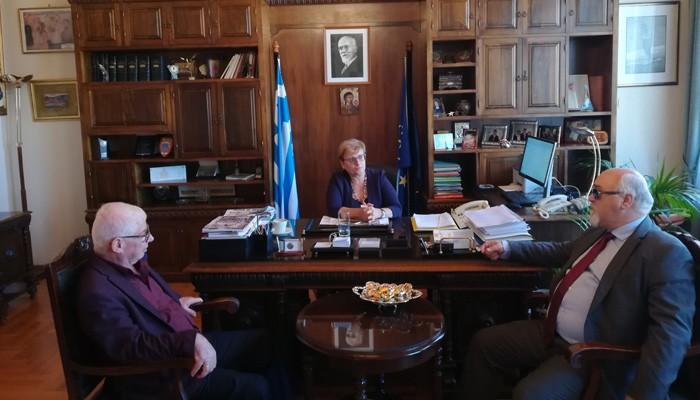 Την Αντιπεριφερειάρχη Ρεθύμνης επισκέφτηκε σήμερα ο Πρόεδρος ΕΣΑμεΑ