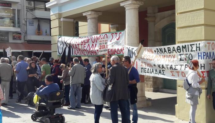 Νέες κινητοποιήσεις των κατοίκων του Καστελίου κατά του αεροδρομίου