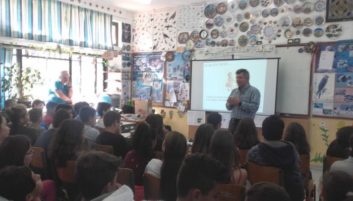 "FlashNews ""Ενημέρωση για κλιματική αλλαγή & πλημμύρες σε σχολεία της Ν.Κυδωνίας"""