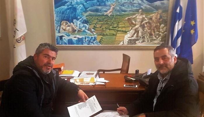 Συνάντηση Δημάρχου Οροπεδίου με τον Πρόεδρο της ΕΛΜΕ Λασιθίου