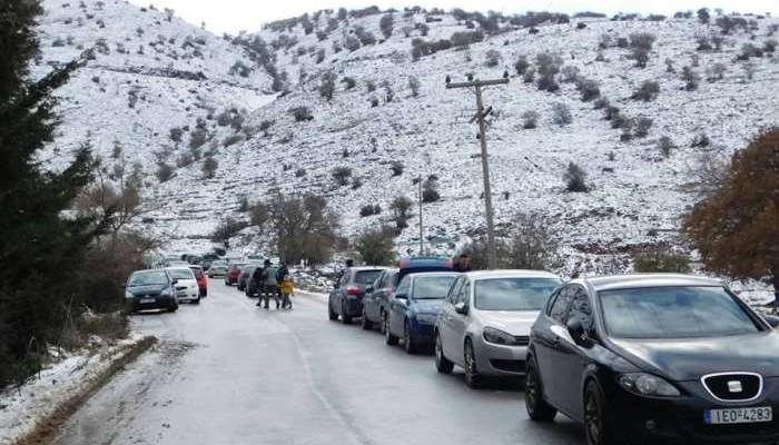 Περίπου 10.000 αυτοκίνητα στον Ψηλορείτη για την εορτή των Θεοφανίων