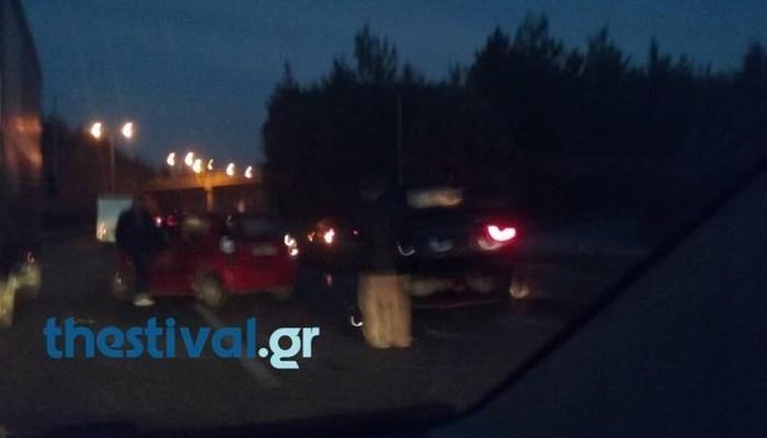 Καραμπόλα δέκα αυτοκινήτων στη Θεσσαλονίκη