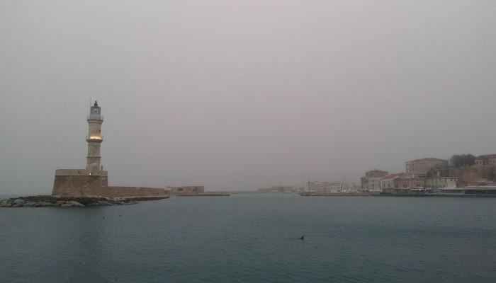 Τοπίο στην... κόκκινη ομίχλη στην Κρήτη (φωτο)