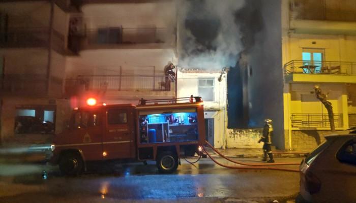 Φωτιά ξέσπασε τα ξημερώματα σε σπίτι στα Χανιά