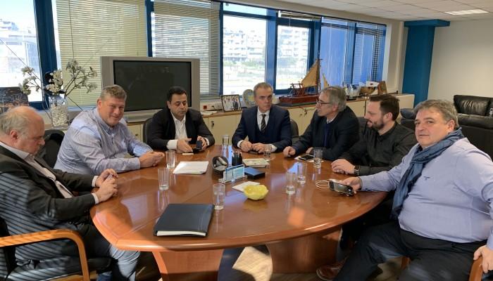Συνάντηση προέδρων Επιμελητηρίων Κρήτης με τον αν. Υπουργό Αιγαίου