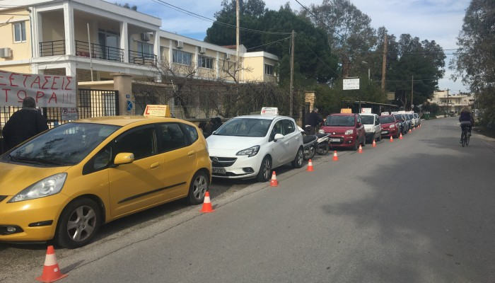 Κινητοποιήσεων συνέχεια για τους εκπαιδευτές οδήγησης στα Χανιά (φωτο)