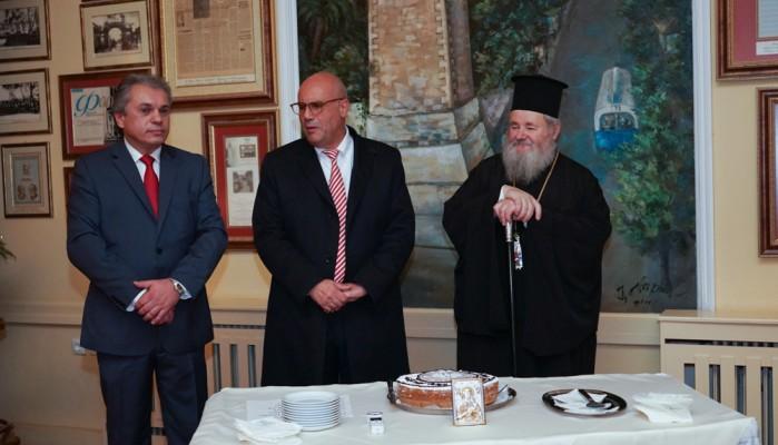 Η κοπή της πίτας του Συνδέσμου Ιστορικών Καφέ Ευρώπης