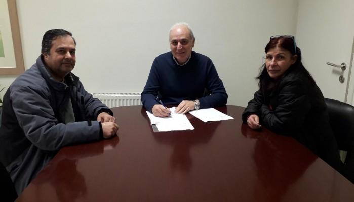 Υπογραφή σύμβασης έργου «Επέκταση δικτύου άρδευσης Μάρθας»