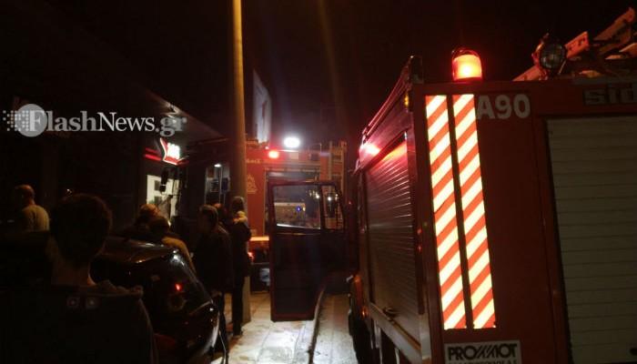Αναστάτωση από πυρκαγιά σε επιχείρηση στην οδό Γογονή στα Χανιά (φωτο)