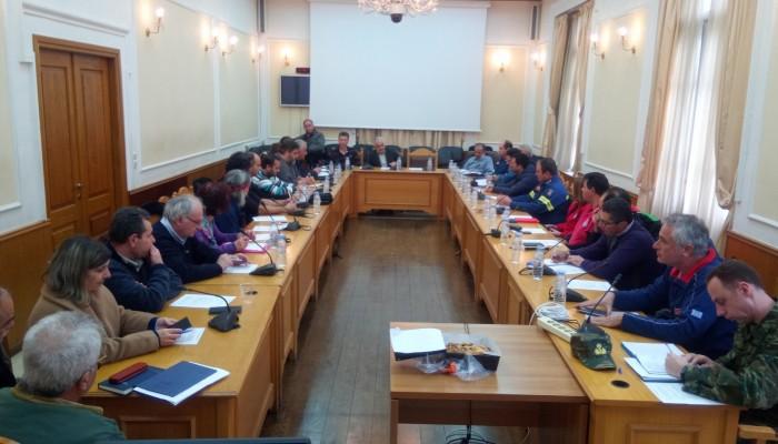 Συνεδρίαση του ΣΟΠΠ Ηρακλείου για τις δράσεις πολιτικής προστασίας