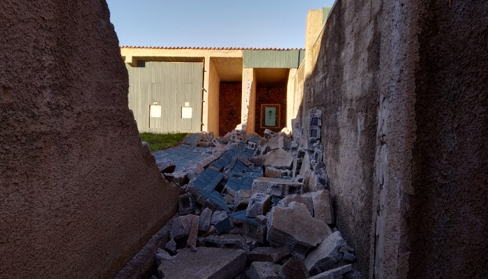 Χανιά: Άνεμοι και κακοτεχνίες προκάλεσαν κατάρρευση στο Σκοπευτήριο (φωτο)