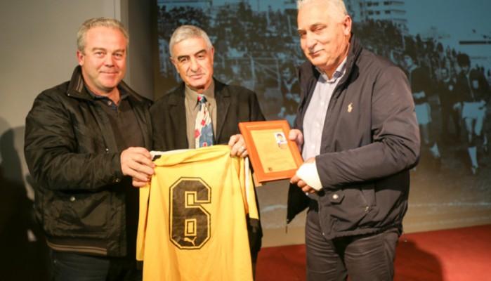 Συγκίνηση στην εκδήλωση για τον παλαίμαχο διεθνή ποδοσφαιριστή, Γ.Δαμανάκη