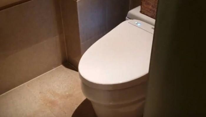 Η τουαλέτα που σε υποδέχεται μόλις ανοίξεις την πόρτα