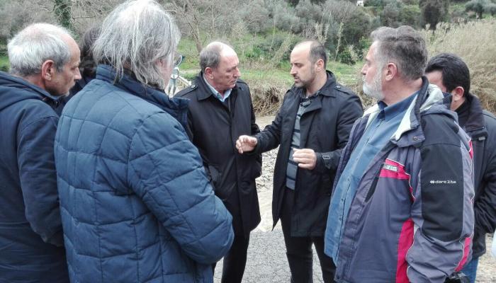 Επίσκεψη Σταθάκη στις πληγείσες από την θεομηνία περιοχές