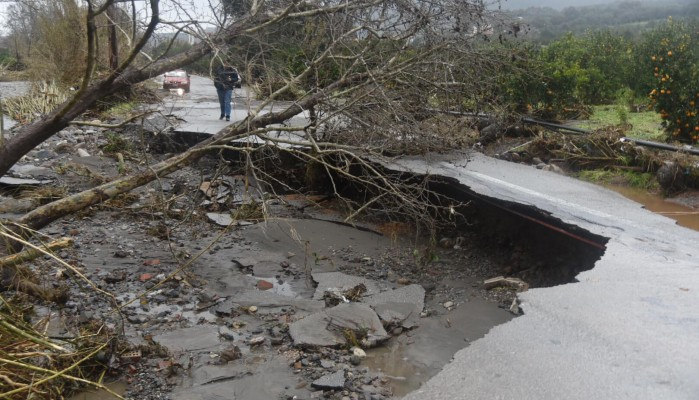 Ολοκληρωτική καταστροφή στο δήμο Πλατανιά (φωτο)
