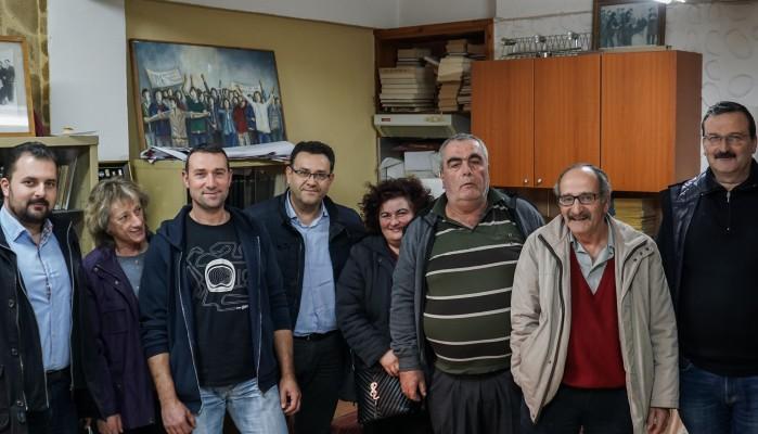 Ο Συντυχάκης συνάντησε τους εργαζόμενους του «Βοήθεια στο Σπίτι»