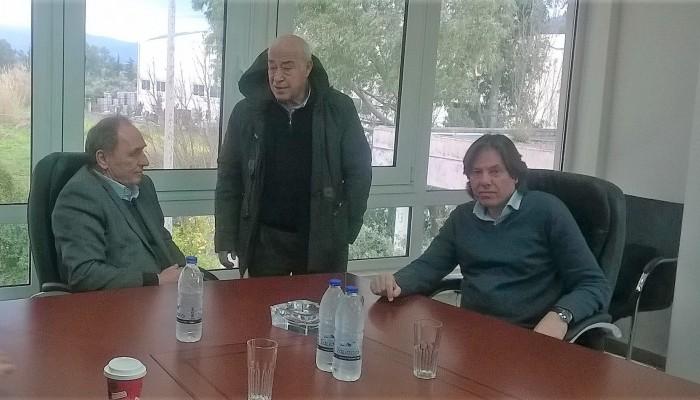 Σε ΟΑΚ και Δήμο Κισάμου ο Γιώργος Σταθάκης (φωτο)