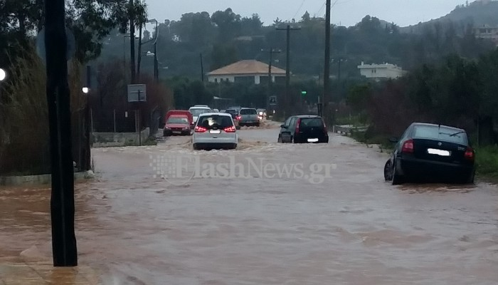Άνοιξαν οι ουρανοί στα Χανιά - Πλημμύρες σε σπίτια και δρόμους, κλειστά σχολεία (βίντεο)