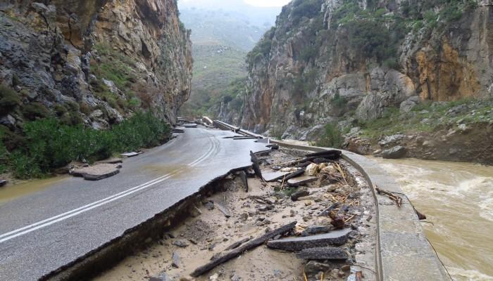 Έργα ύψους 1.952.998 ευρώ για την αντιμετώπιση φυσικών καταστροφών στο Ρέθυμνο
