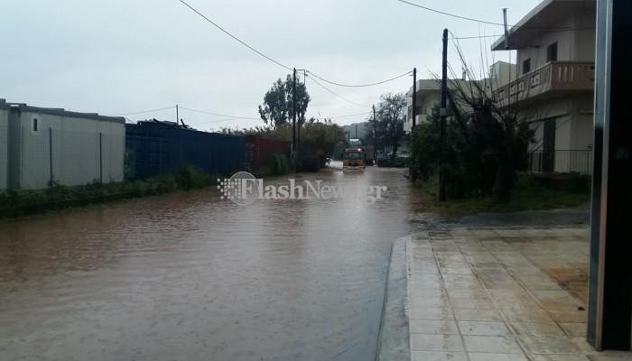 Ποιοι δρόμοι έκλεισαν στα Χανιά εξαιτίας της κακοκαιρίας