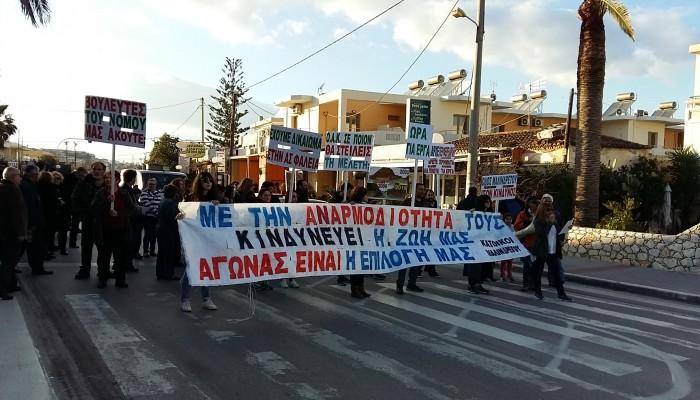 Κλιμακώνουν τις κινητοποιήσεις οι κάτοικοι της Μαλινδρέτου - Έκλεισαν τον δρόμο (φωτο)