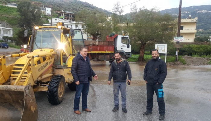 Αυτοψίες και αποκαταστάσεις ζημιών στο Παλαιόκαστρο