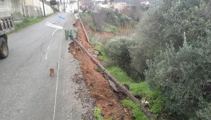 Επικίνδυνος δρόμος στο δήμο Πλατανιά
