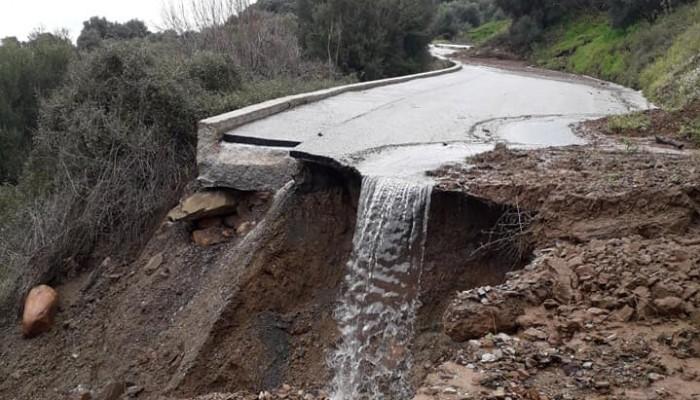 Διαλύθηκαν οι δρόμοι στα Σκορδαλού του Πλατανιά (φωτο)