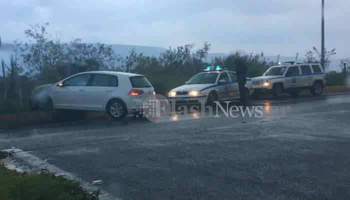 Χανιά: Τροχαίο ατύχημα στο Πιθάρι (φωτο)